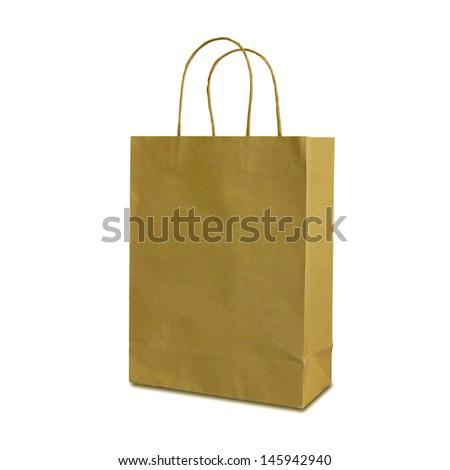 Paper bags isolated on white background - stock photo