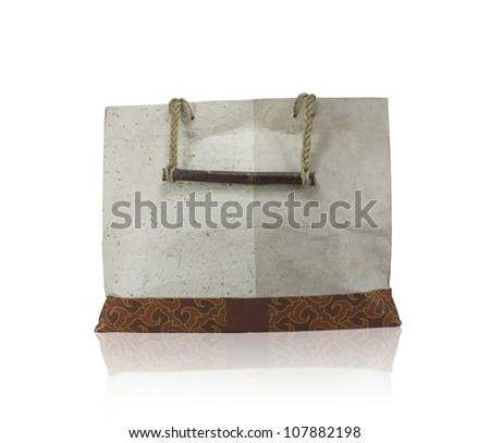 Paper bags on white backgrond - stock photo