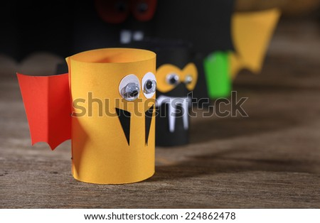 Paper bats. - stock photo