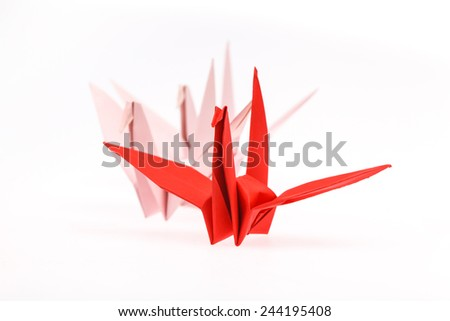 paper bird, origami. - stock photo