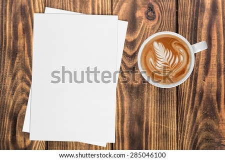Paper, blank, sheet. - stock photo