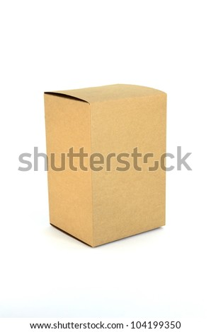 paper box inisolated