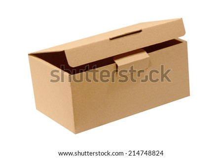 Paper box isolated on white background.