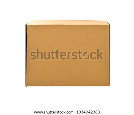 Paper box isolated on white background. selective focus. Clipping path included.