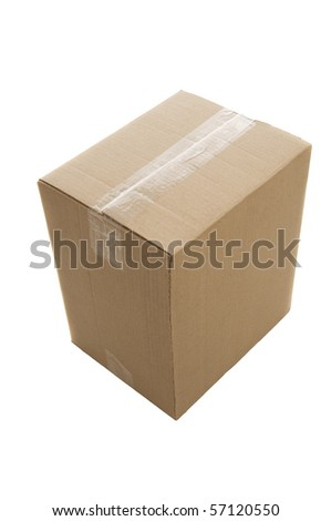 Paper box. Isolated over white - stock photo