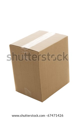 Paper box. Isolated over white