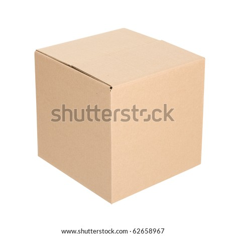 Paper box. Packaging. Isolated over white background