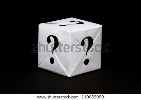 Paper box with question sign - stock photo