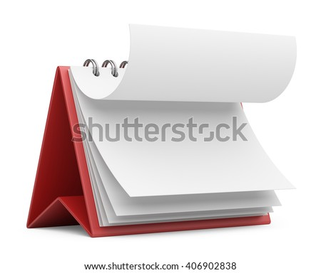 paper calendar. 3D icon isolated - stock photo