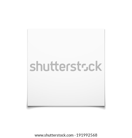 Paper Card Isolated On White Background,  Illustration