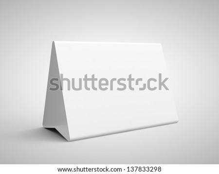 paper card on a gray background - stock photo