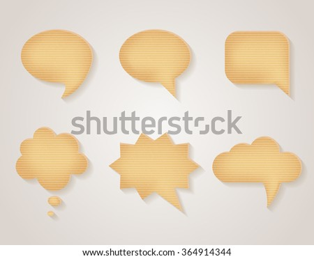 Paper cardboard speech bubbles
