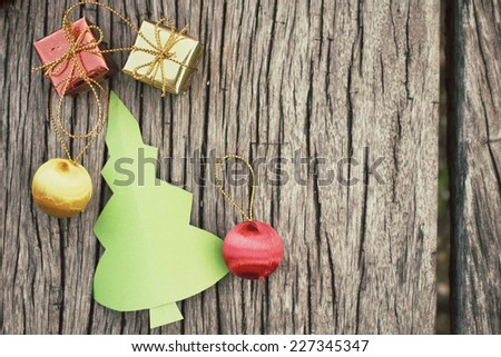 Paper christmas tree with gifts