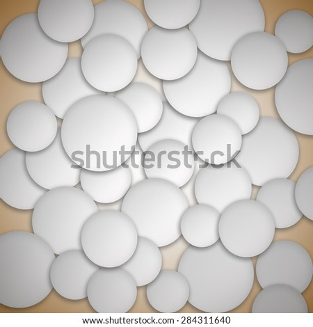 Paper circle banner with drop shadows - stock photo
