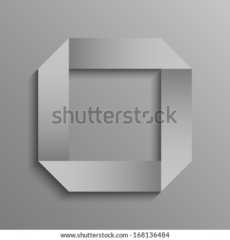 Paper circle on a gray background