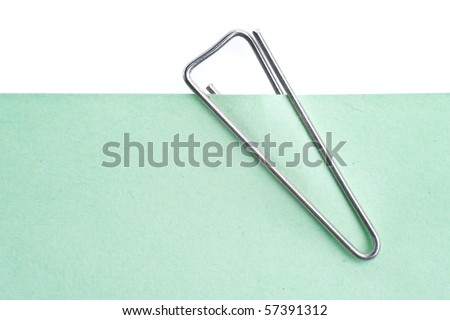 paper clip isolated on white - stock photo