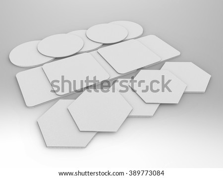 Paper Coaster 3D Render is a professional 3D render that can be used for various marketing campaigns, as well as brand marketing.  - stock photo