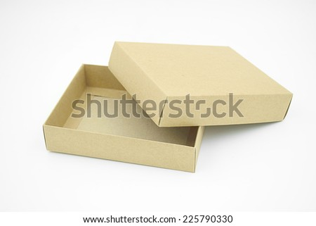 Paper Container Box - stock photo
