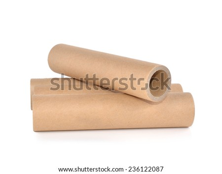 Paper core with white background