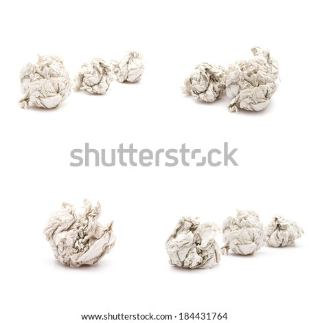 Paper crumpled isolated - stock photo