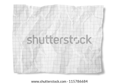 Paper Crumpled isolated on white - stock photo
