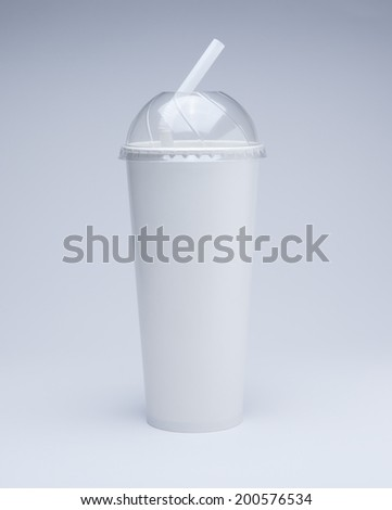 paper cup and straw with cover