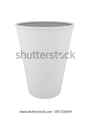 Paper cup. 3d illustration on white background