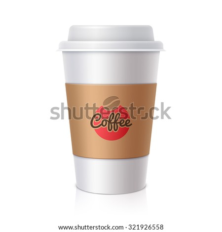 Paper cup for coffee - stock photo