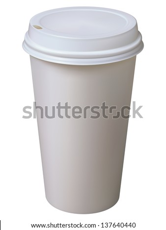 Paper Cup. Isolated on white