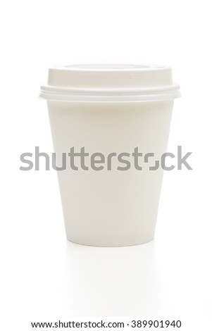 paper cup on the white background - stock photo