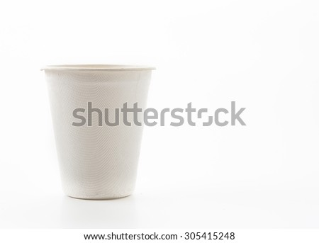 paper cup on white background - stock photo