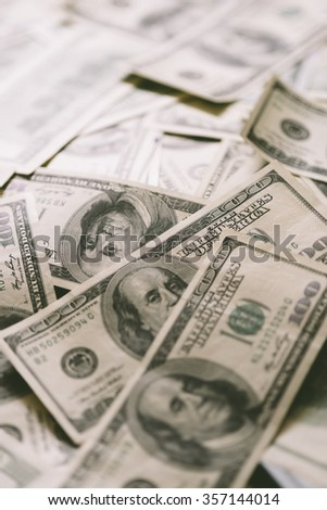 paper currency in closeup, selective focus - stock photo