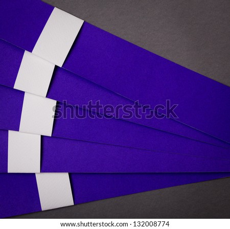 Paper cut of Modern Design template  can be used for  business design and website templates, cutout lines and numbers - stock photo