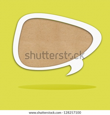 Paper cut of Text bubble - stock photo