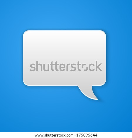 Paper Cut Speech Bubble Background. Raster Version - stock photo