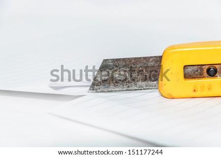 Paper cutter - stock photo