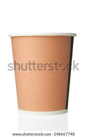 Paper disposable cup closeup - stock photo