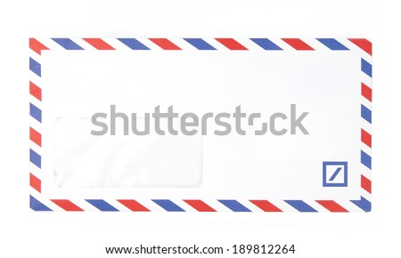 Paper Envelope Airmail White background