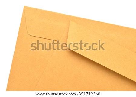 Paper Envelope  on white background - stock photo