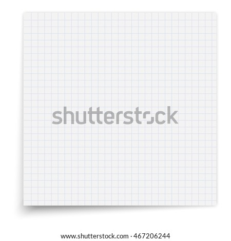 Paper exercise book in a cell. Texture notebook sheet illustration. Sheet of paper icon.