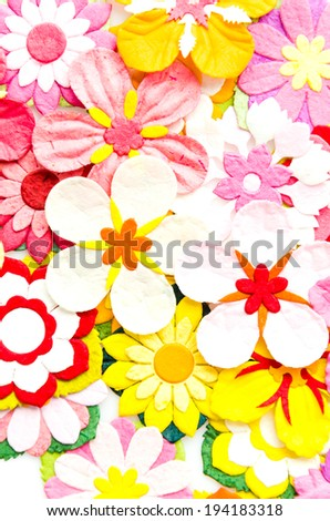 Paper flower - stock photo