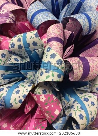 Paper flower bouquet - stock photo