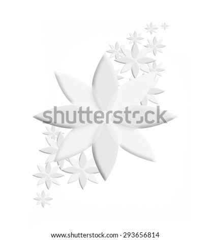 paper flower on a white background - stock photo