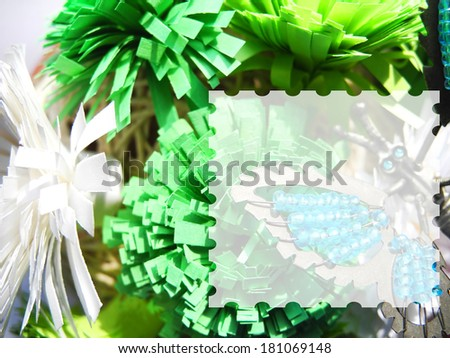 Paper flowers for text abstract - stock photo