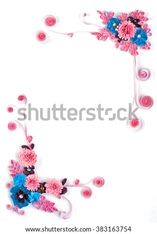 Paper flowers quilling frame
