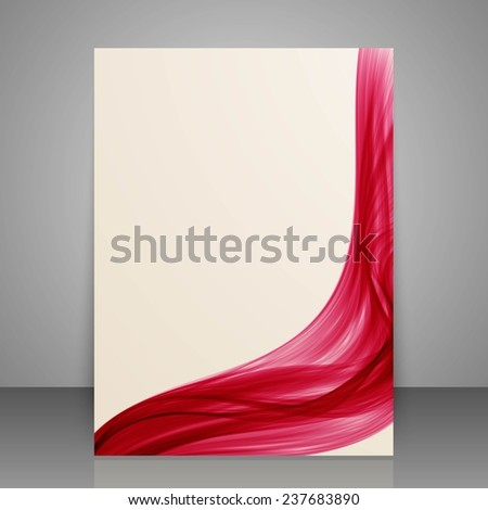 Paper flyer template or banner. Brochure design for print your content. - stock photo