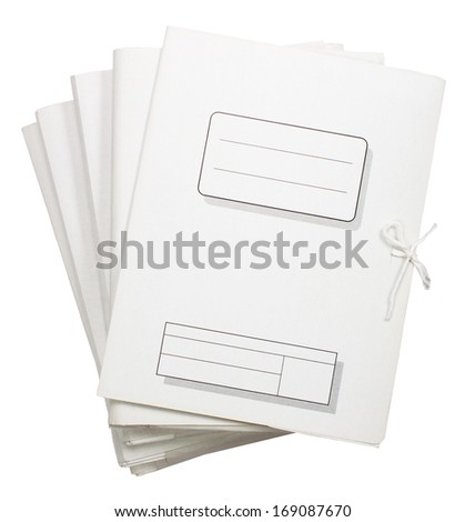 Paper folder isolated on white background. Empty space on your text