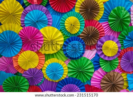 Paper folding multicolored abstract for background - stock photo