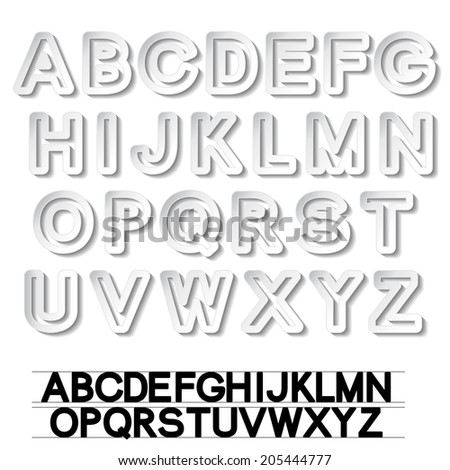 paper font alphabet - white stickers