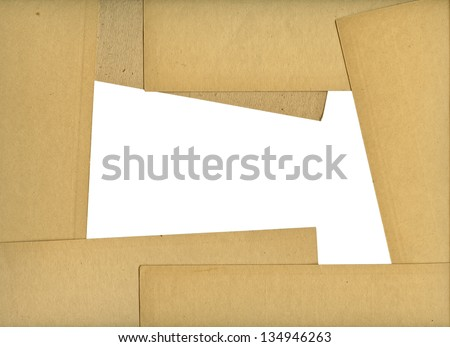 Paper frame  with clipping path for the inside
